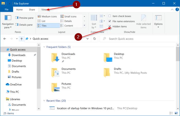 ubicación de la carpeta de inicio en Windows 10 pic3
