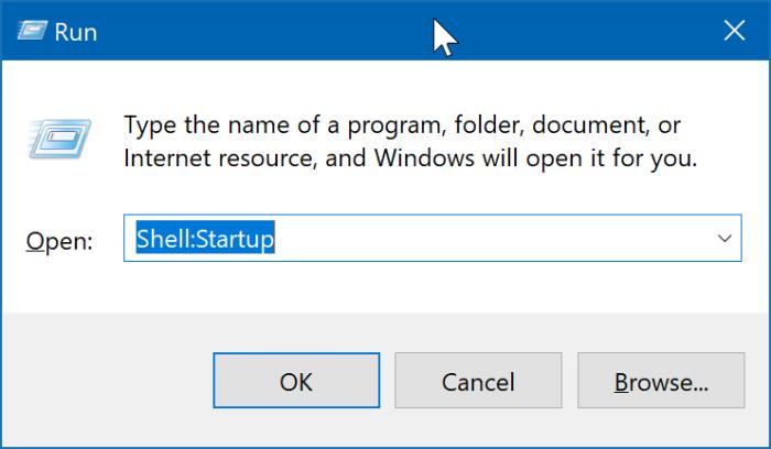 ubicación de la carpeta de inicio en Windows 10 pic2