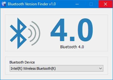 comprobar la versión de bluetooth en windows 10