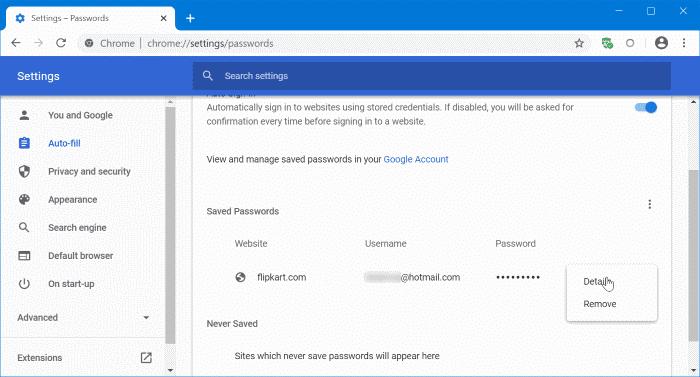 actualizar las contraseñas guardadas en Google Chrome pic2