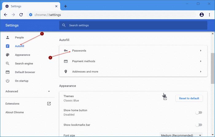 exportar contraseñas de google chrome en Windows 10 pic2
