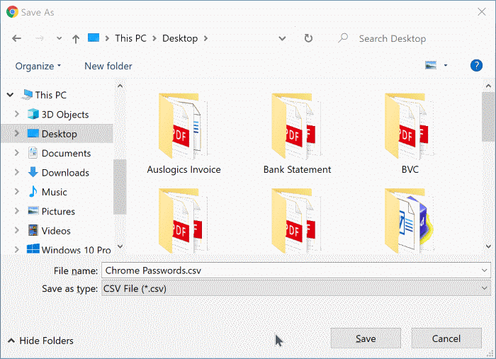 exportar contraseñas de google chrome en Windows 10 pic7