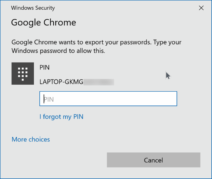 exportar contraseñas de google chrome en Windows 10 pic6