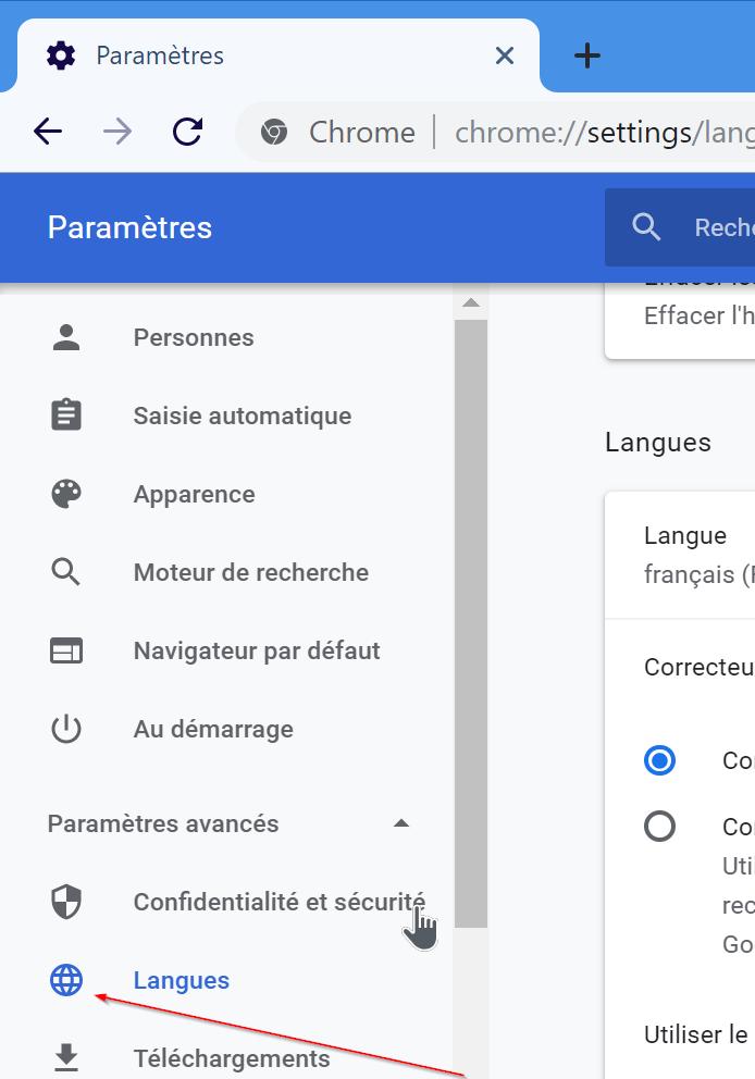 cambiar el idioma de google chrome a ingles pic3