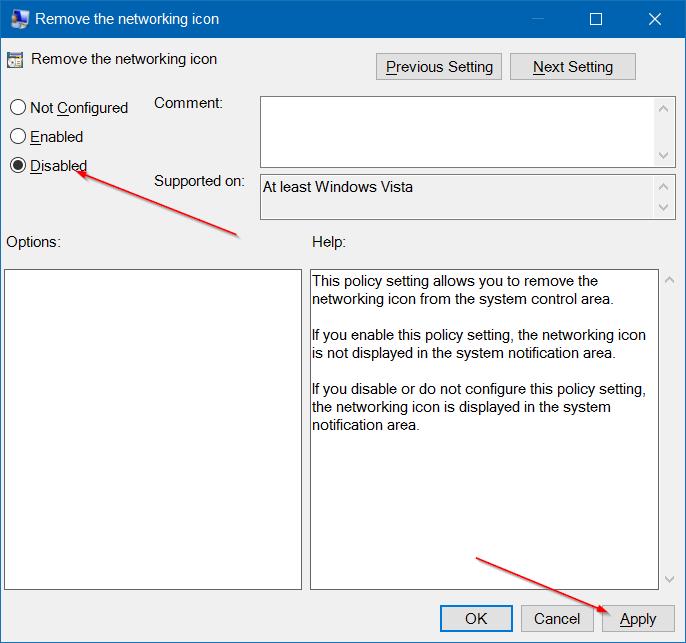 Falta el icono inalámbrico en la barra de tareas en Windows 10 paso 10