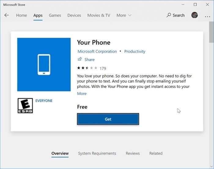 Desinstale o reinstale la aplicación Your Phone en Windows 10 pic3