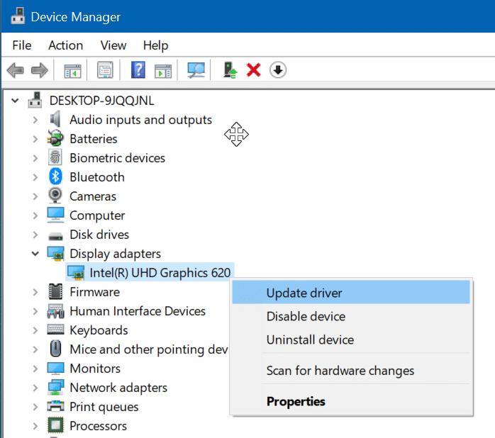 actualizar los controladores de pantalla en Windows 10 pic9