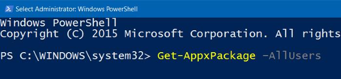 Reinstale la aplicación Fotos en Windows 10 paso 2