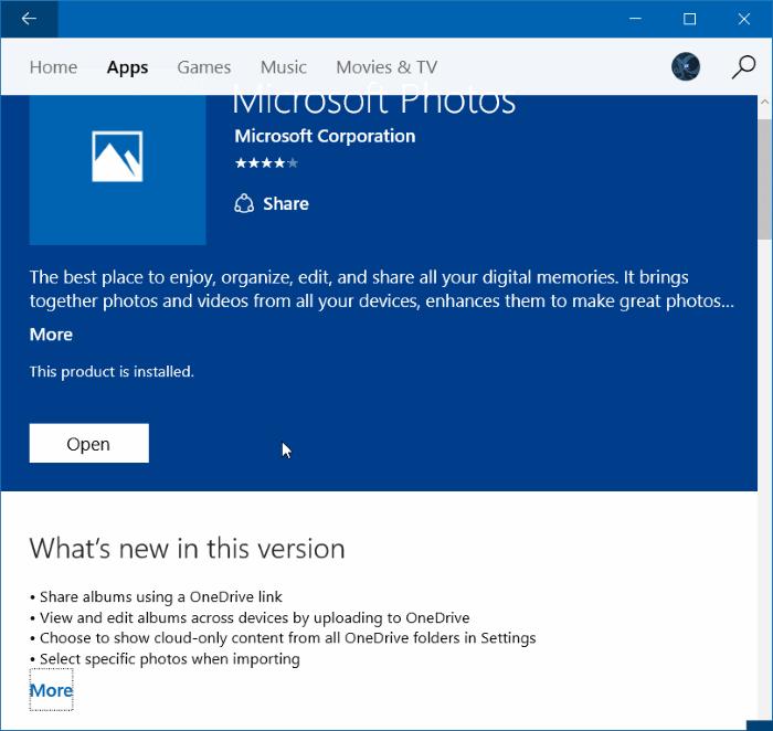 Reinstale la aplicación Fotos en Windows 10 paso 11