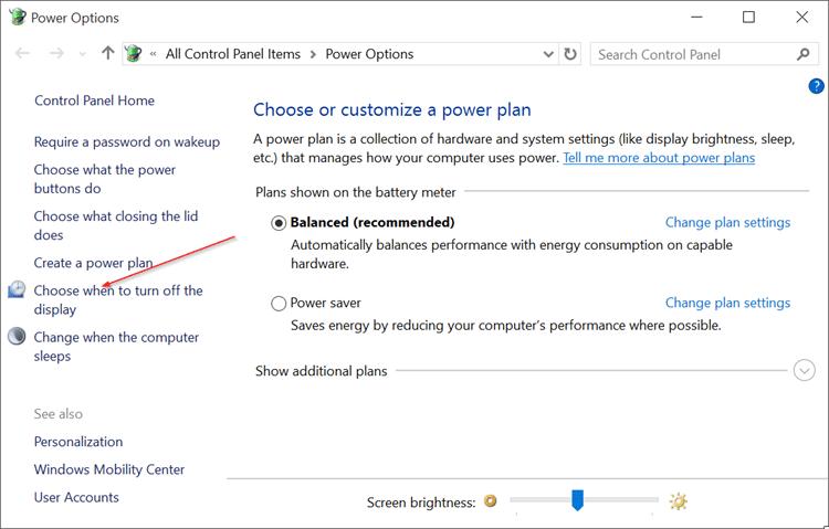 Deshabilitar el brillo automático de la pantalla en Windows 10 pic2