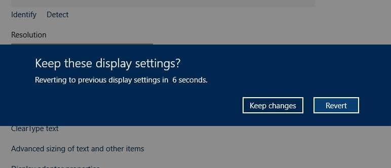 Cambiar la resolución de pantalla de Windows 10