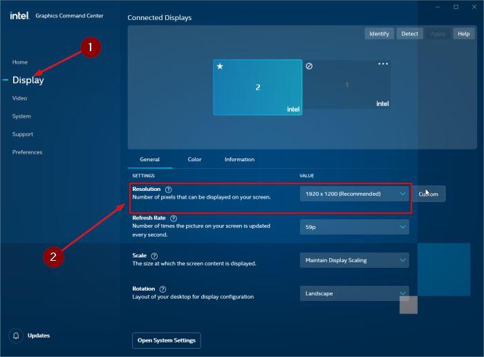 cambiar la resolución de la pantalla en Windows 10 pic1
