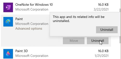 reinstalar la pintura en Windows 10 pic2