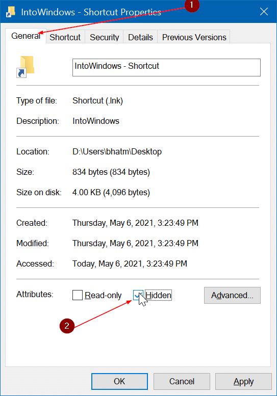 crear un atajo de teclado para abrir una carpeta en Windows 10 pic5
