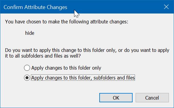 ocultar archivos o carpetas en el escritorio en Windows 10 pic3