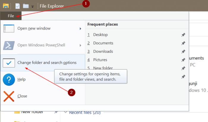 Abra el explorador de archivos en esta PC en lugar de acceso rápido en Windows 10 pic1