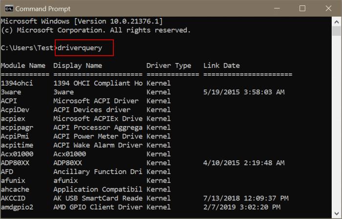 ver todos los controladores instalados en Windows 10 pic2