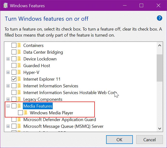desinstalar Windows Media Player en Windows 10 pic10