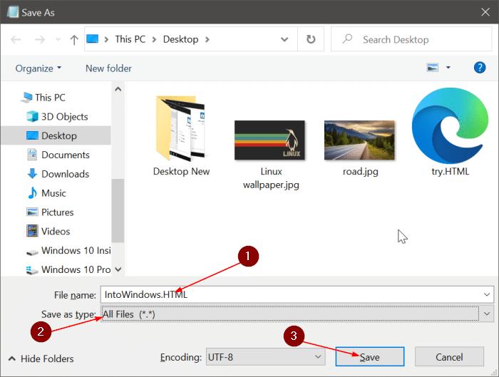 guardar el archivo de texto en el bloc de notas como PDF o HTML en Windows 10 pic3