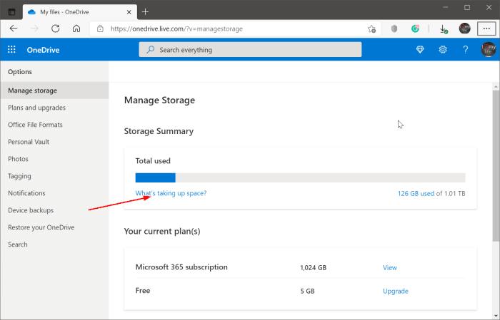 cómo ver archivos grandes en OneDrive pic2