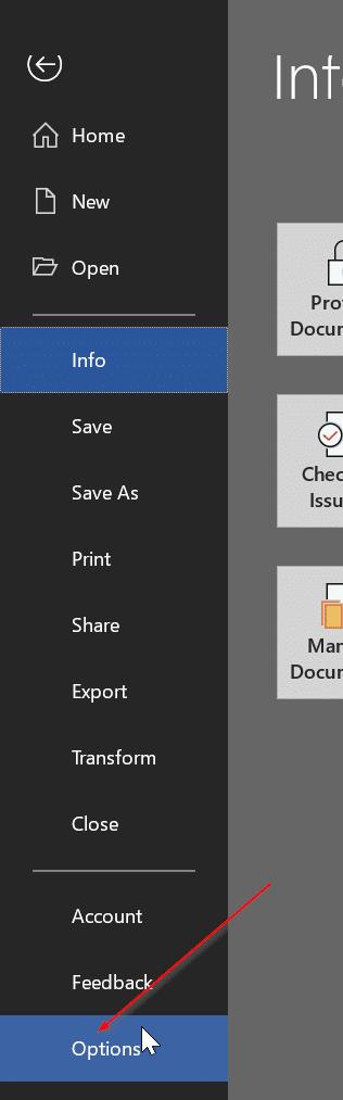 cambiar la ubicación de almacenamiento predeterminada de Office 365 pic01