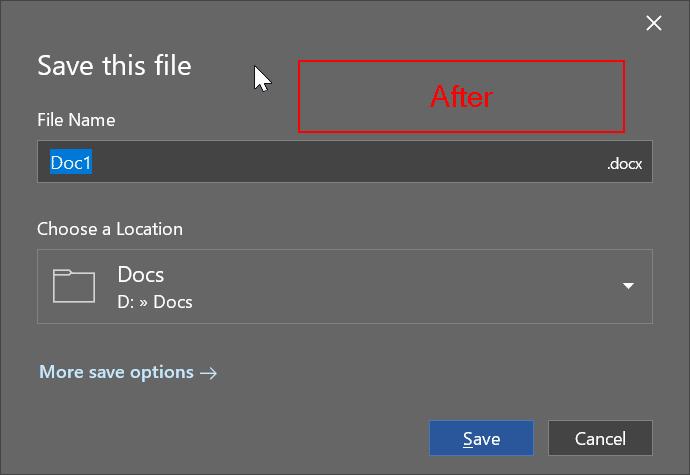 cambiar la ubicación de almacenamiento predeterminada de Office 365 pic2