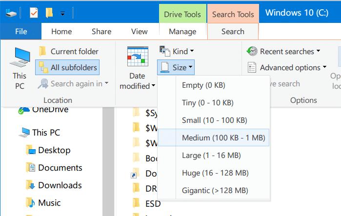 buscar archivos grandes en Windows 10 pic3