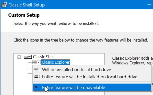 obtener el menú de inicio clásico en Windows 10 pic2