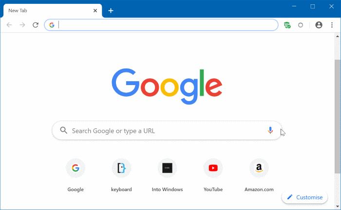 restaurar manualmente la sesión de navegación de Google Chrome en Windows 10