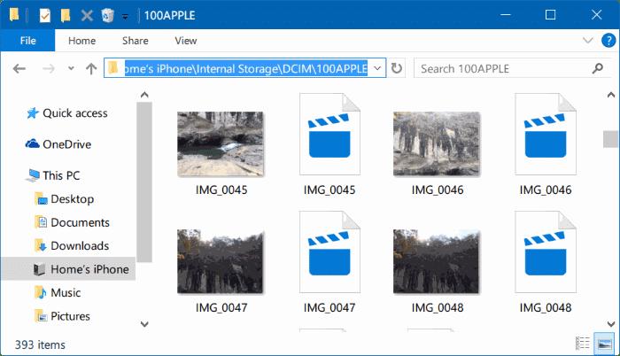 ver fotos en vivo de iphone en PC con Windows 10 img1