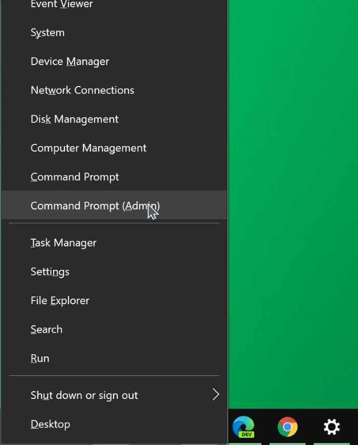 abrir el símbolo del sistema como administrador en Windows 10 pic04