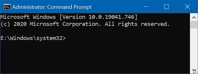 abrir el símbolo del sistema como administrador en Windows 10