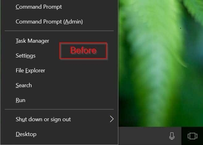 agregar panel de control para ganar x menú de usuario avanzado windows 10 pic1