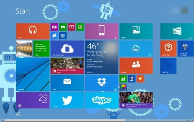 Cambiar automáticamente el color de fondo de la pantalla de inicio en Windows 8.1