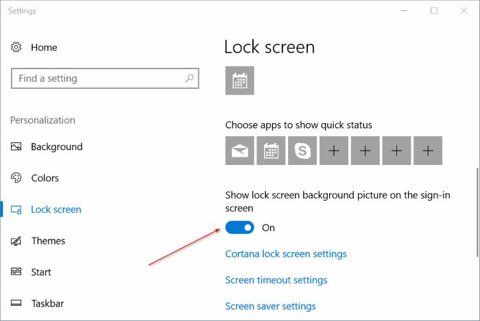 cambiar automáticamente la imagen de fondo de la pantalla de bloqueo en Windows 10 pic2