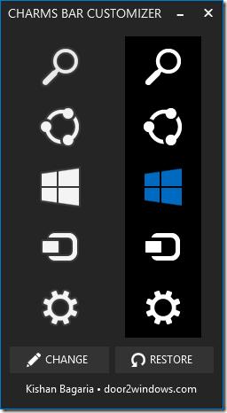 Cambiar los iconos de la barra de Chamrs