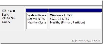 Abra la partición reservada del sistema oculto en Windows 7 Step5