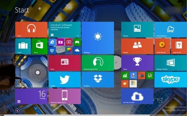 cómo anclar aplicaciones a la pantalla de inicio en Windows 8.1