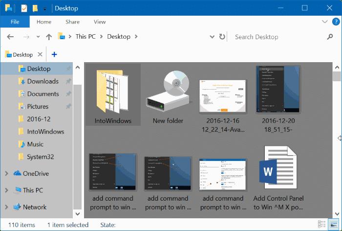 cambiar el color de fondo de la carpeta Windows 10