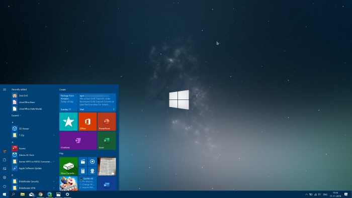 cambiar el color del menú de inicio en Windows 10 pic01
