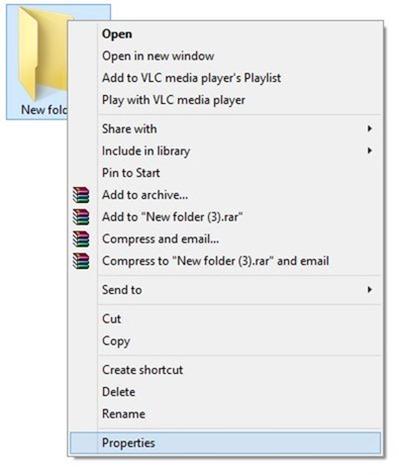 cambiar el icono de carpeta en Windows 7 o Windows 8 paso 1