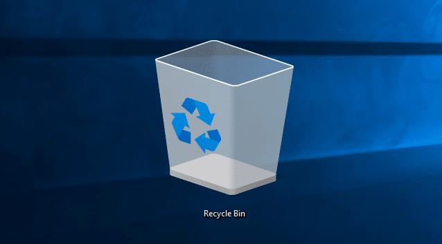 Cambiar el icono de la papelera de reciclaje en la imagen de Windows 10