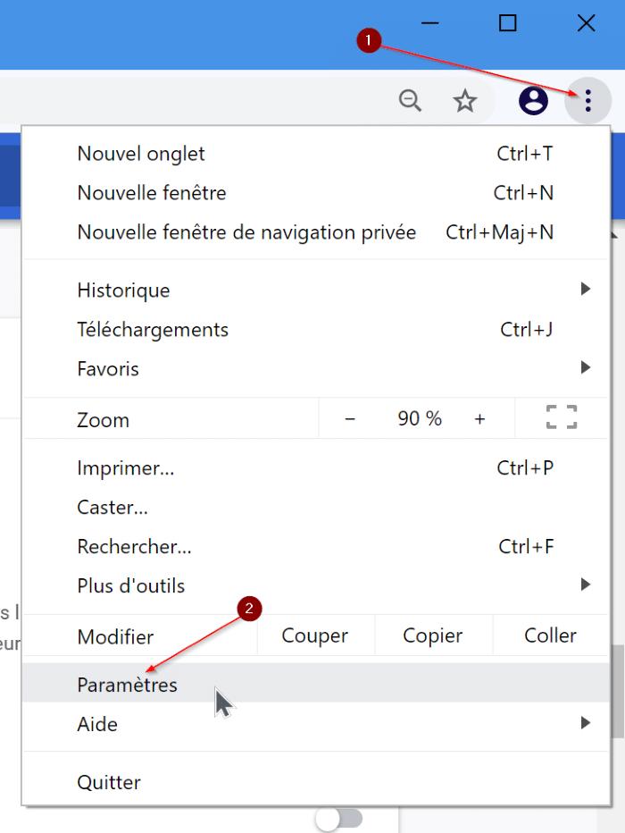 cambiar el idioma de google chrome a ingles pic1