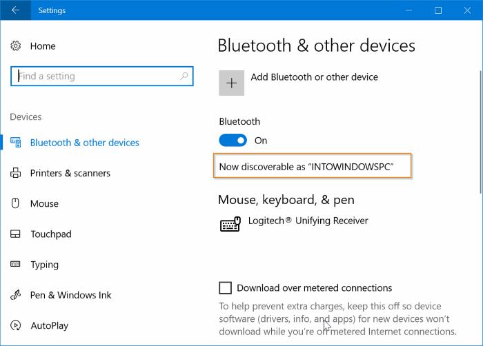 cambiar el nombre de bluetooth en Windows 10 pic01