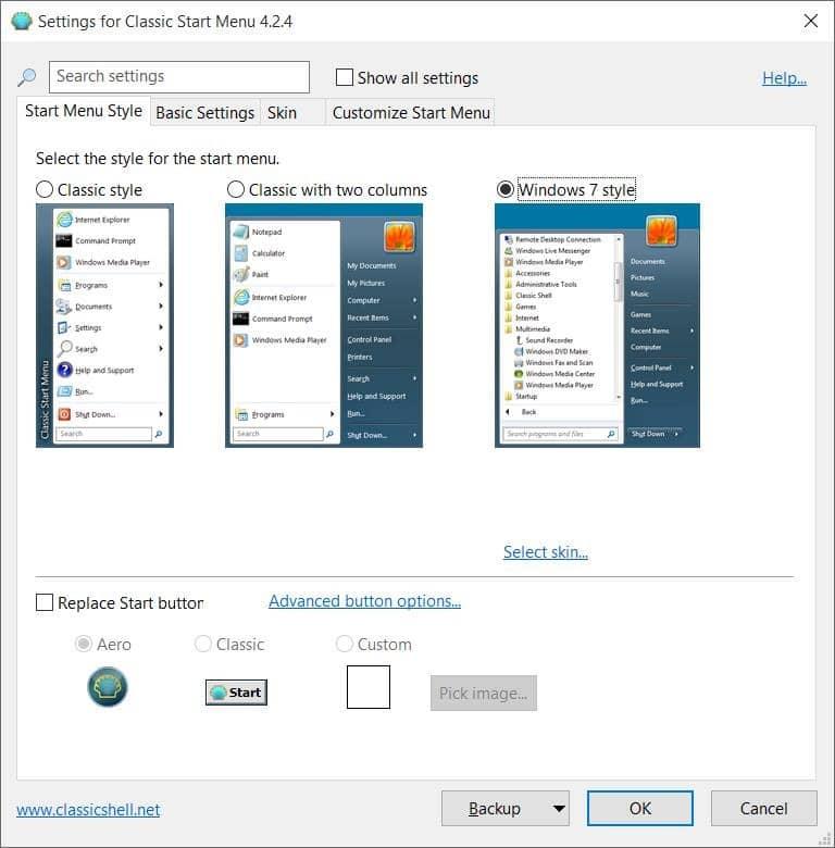 Cambiar el botón Inicio en Windows 10 pic3