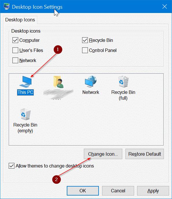 cambiar los iconos del escritorio en Windows 10 pic3