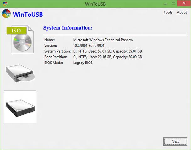 clonar la instalación de Windows 10 en USB y hacerla de arranque step4