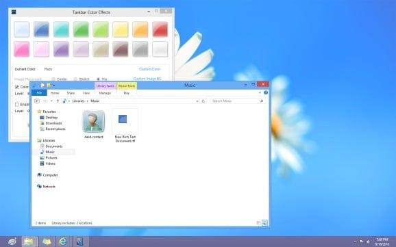 Establecer diferentes colores para la barra de tareas y el borde de la ventana