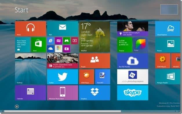 Establecer el fondo de pantalla del escritorio como fondo de la pantalla de inicio Windows 81