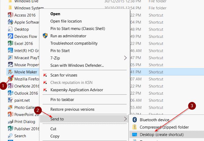 crear un acceso directo en el escritorio para programar en Windows 10 paso 5